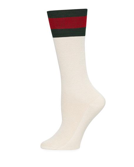 Suzanne Web-Cuff Tube Socks