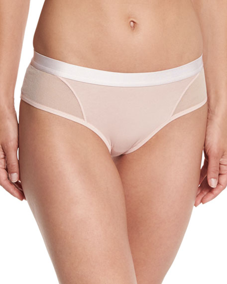 Tulle Stretch-Cotton Hipster Briefs
