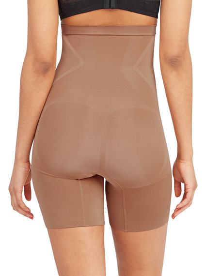 Image 2 of 2: Spanx OnCore High-Waisted Mid-Thigh Shorts