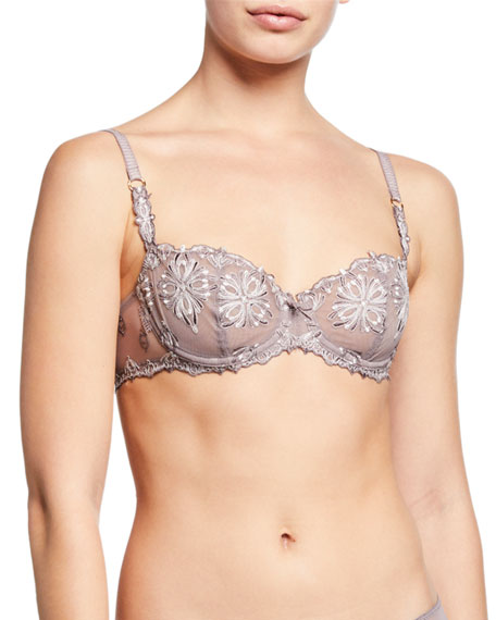 Chantelle Champs Elysees Lace Demi Bra and Matching