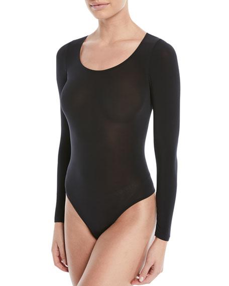Buenos Aires Long-Sleeve Semisheer Bodysuit