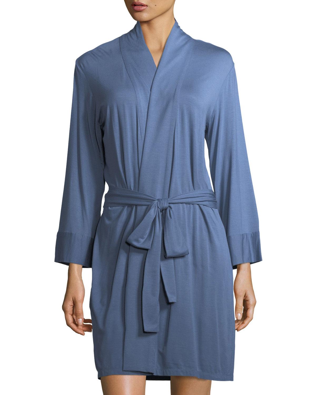 7b56051b6c Josie Natori Undercover Wrap Short Jersey Robe