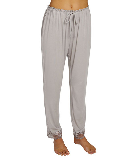 Eberjey Noor Slim-Leg Lounge Pants, Medium Gray