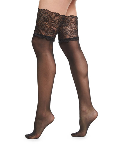 Lace-Filigree Stay-Up Thigh-High Stockings