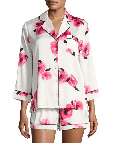 floral-print shortie pajama set