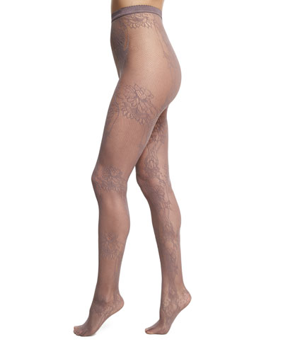 Trailing Flowers Net Lace Tights
