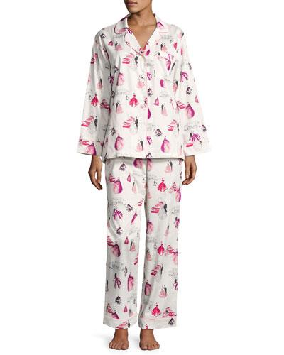 MET Gala Long-Sleeve Pajama Set, Plus Size
