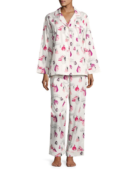 MET Gala Long-Sleeve Pajama Set, Plus Size