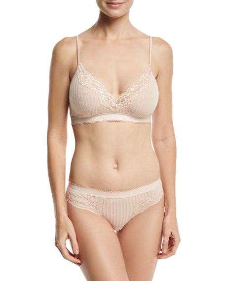 Lily Blushing Ribbed Bikini Briefs, Pink