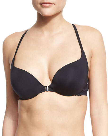 Cosabella Hayworth Front-Close Push-Up Bra, Black
