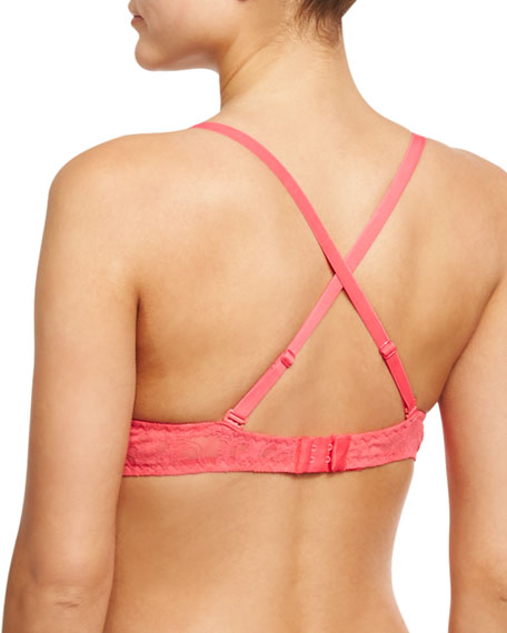 Montie Longline Convertible Soft Bra, Pink/Orange