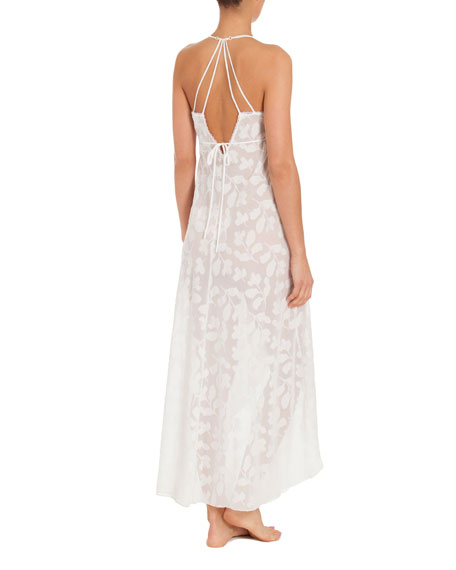 Opal Floral-Print Nightgown, White