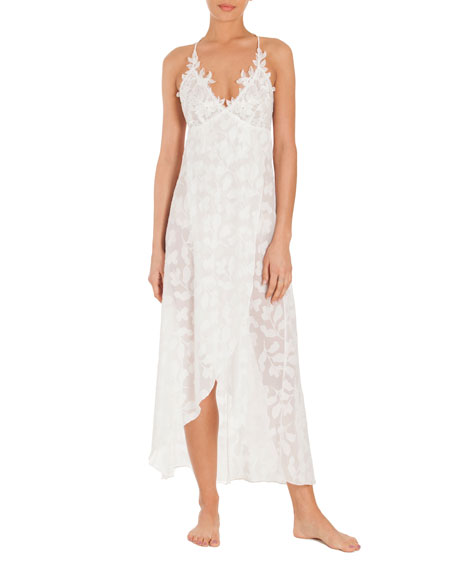 Jonquil Opal Floral-Print Nightgown, White