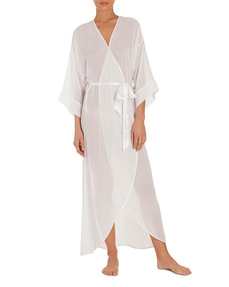 Summer Chiffon Long Robe, Ivory