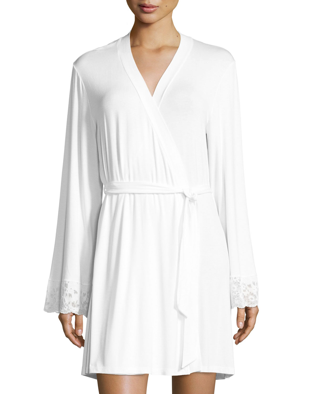 4c6ddb5947 Cosabella Jersey-Knit Lace-Cuff Robe