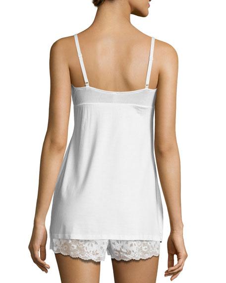 Italia Lace-Trim Camisole, White