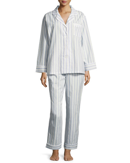 Bedhead Periwinkle Maypole Long-Sleeve Classic Pajama Set, Light