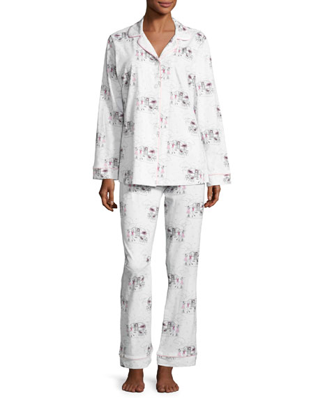 Bedhead Exclusive Glamping Long-Sleeve Classic Pajama Set, White