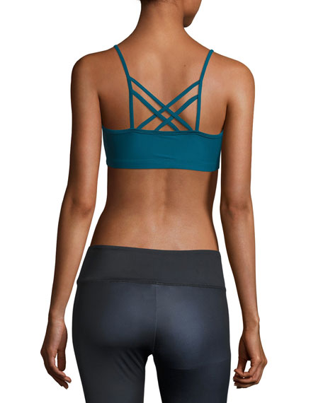 Bound Strappy Low-Impact Sports Bra, Teal