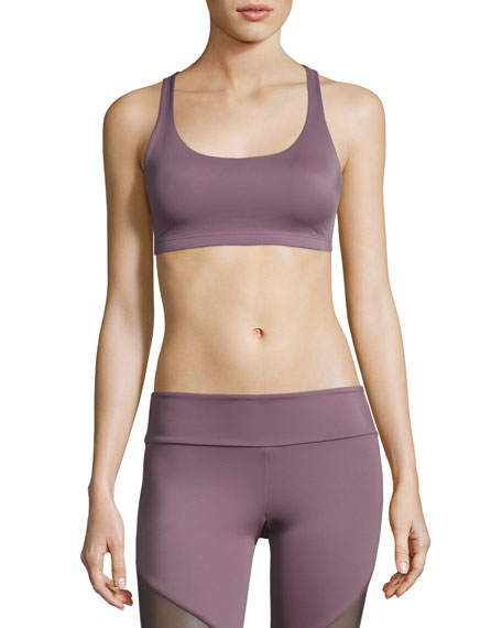 Onzie Chic Strappy Low-Impact Sports Bra, Light Purple