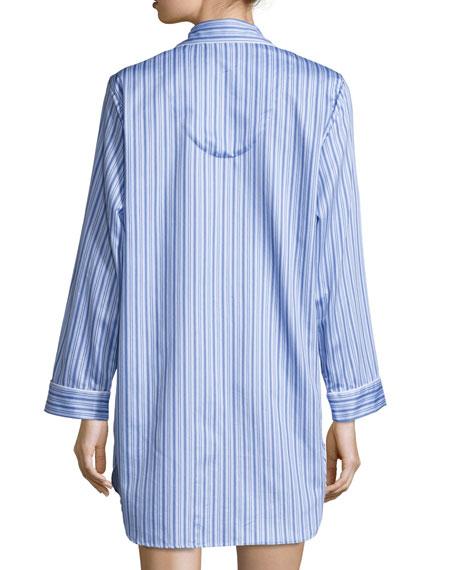 Haberdashery Pinstriped Sleepshirt, Blue/White