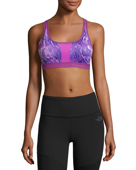 The North Face Stow-N-Go Sports Bra, Purple, A-B