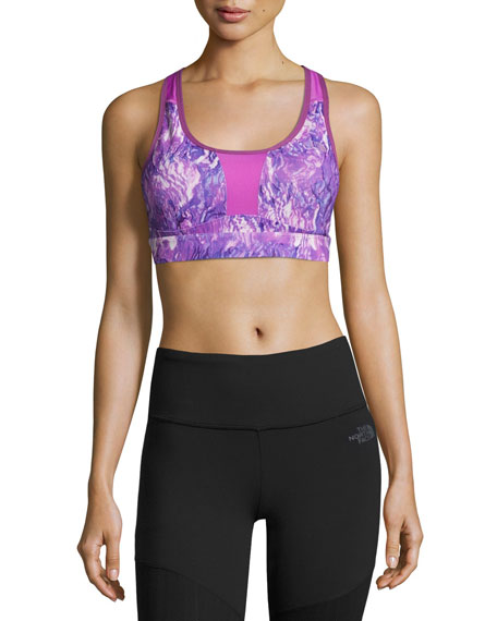 The North Face Stow-N-Go Sports Bra, Purple, C-D