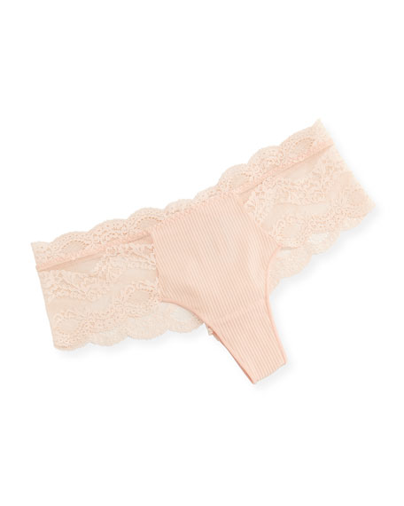 Maison Lejaby Insaisissable Lace-Trim Boy-Leg Briefs, Pink/Orange