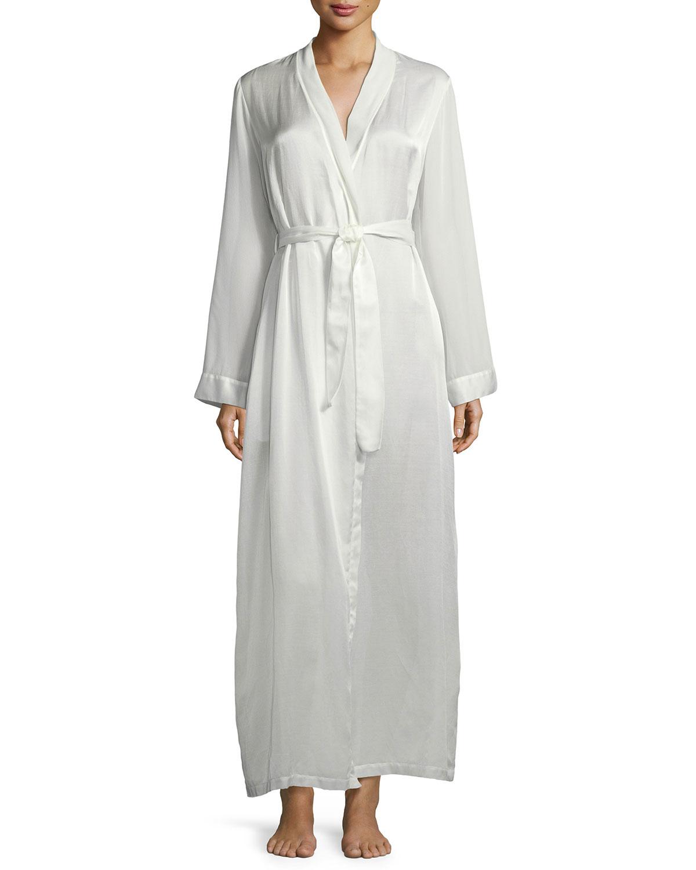 La Perla Jazztime Cotton-Silk Long Robe  6e427276b