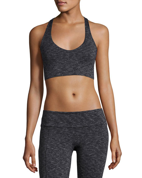 Onzie Wrap Melange Low-Impact Sports Bra, Gray