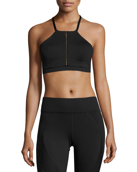 Michi Barre Low-Impact Sports Bra, Black