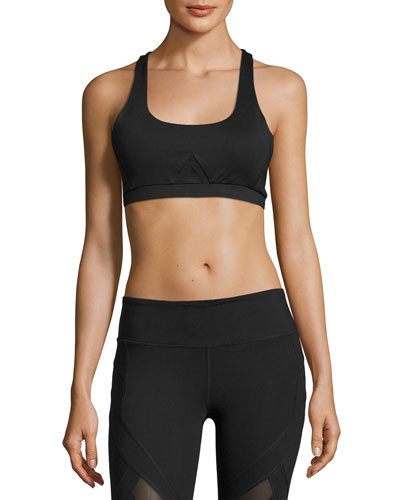 Allegiance Mesh-Back Sports Bra, Black
