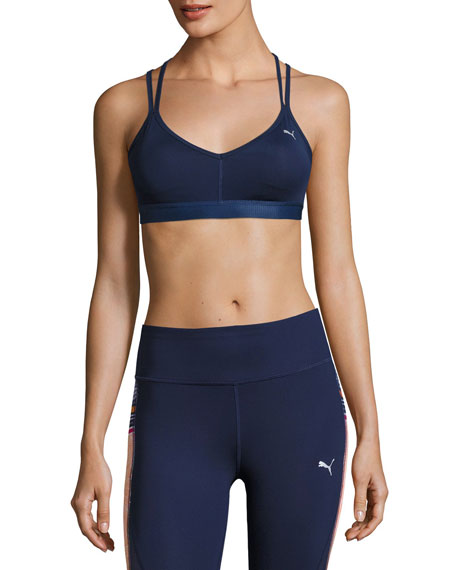 Yogini Strappy-Back Performance Sports Bra, Navy