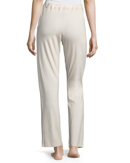 Jersey Drawstring Lounge Pants, Off White