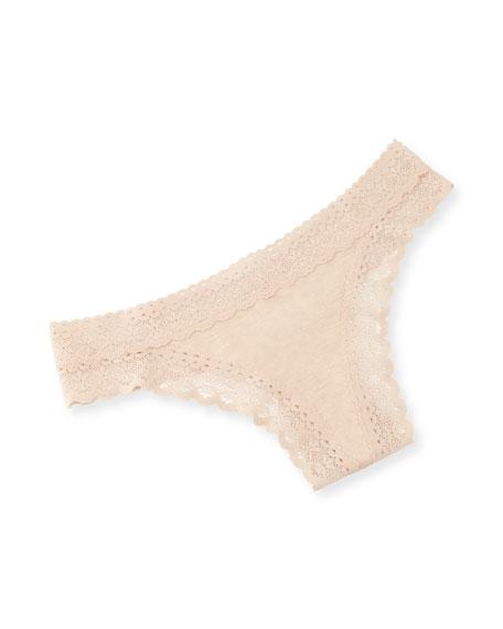 May Lace-Trim Thong