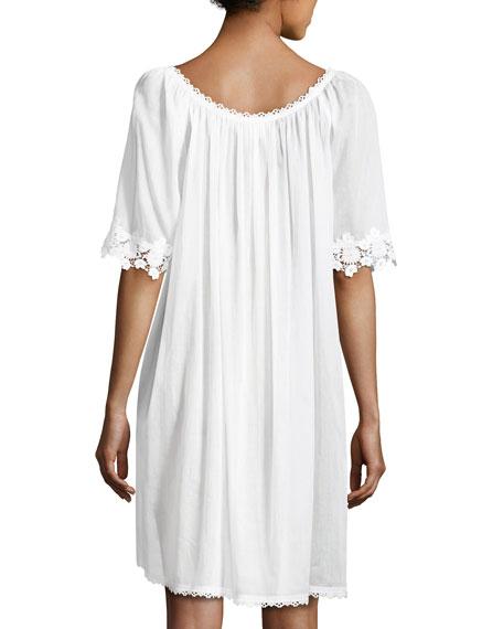Margitta 3/4-Sleeve Babydoll Nightgown, White