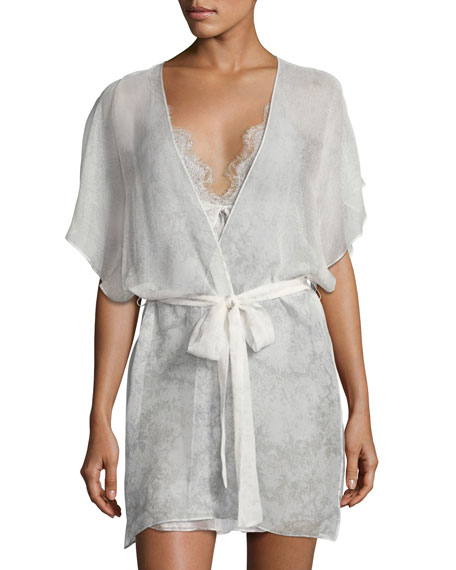 Christine Designs Midsummer Printed Short Robe, Multi Pattern