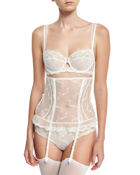 Orchid Paradis Lace Thong, Ivory