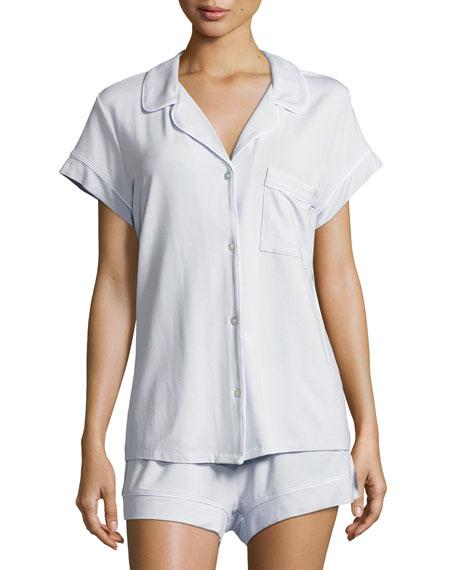 Eberjey Gisele Short Pajama Set, Light Blue