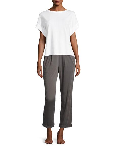 Pajama Cropped Pants, Dark Gray
