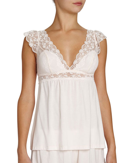 Kiss the Bride Lace-Trim Camisole, Light Pink
