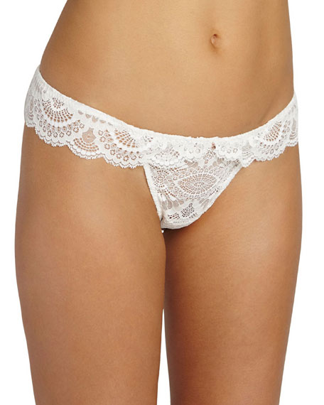 Marry Me Lace Thong, White