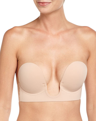 U-Plunge Backless Strapless Adhesive Bra