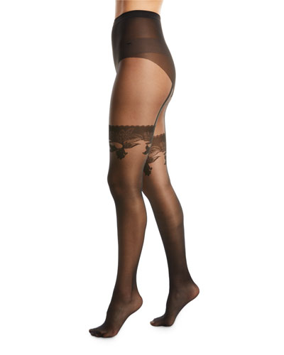 Allure Faux-Thigh High Tights