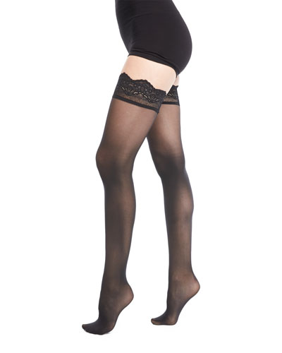 Velvet Light Stay-Up Thigh-Highs