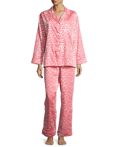 Wild Thing Classic Pajama Set, Coral/Ivory