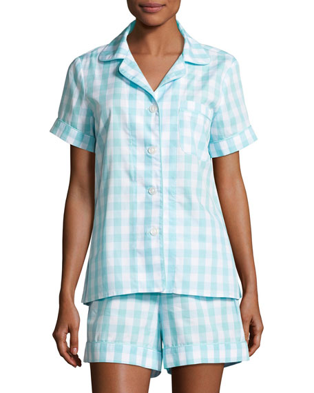 Bedhead Wild Thing Shortie Pajama Set, Coral/Ivory