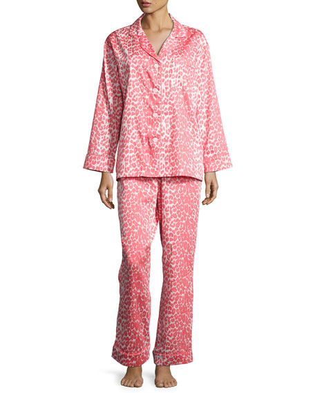 Bedhead Wild Thing Classic Pajama Set, Coral/Ivory, Plus