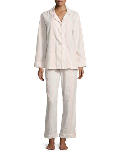 Spanish Rose Striped Classic Pajama Set