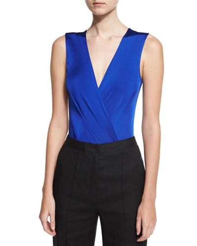 Lala Sleeveless Bodysuit, Blue